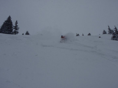 12/11/2011 Berthoud Pass dawn patrol.  Skier is John W, photographer is Al M.