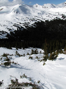 2/16/11 Butler Gulch.  Solo trip, looking down my line.
