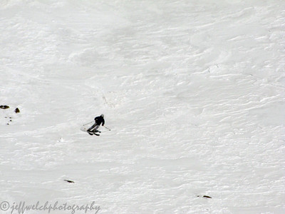 Dave skiing some wind-mank.