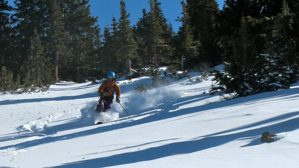 12.02.11: Day 16, Berthoud Pass, CO.  I found some soft snow! Photo: L.Hall