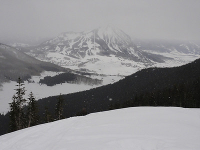 Mt. Crested Butte as viewed from the top of Coneys.