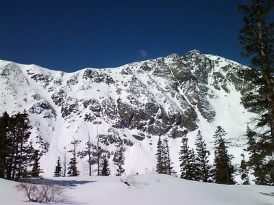 More couloirs higher on Quandary's north face.