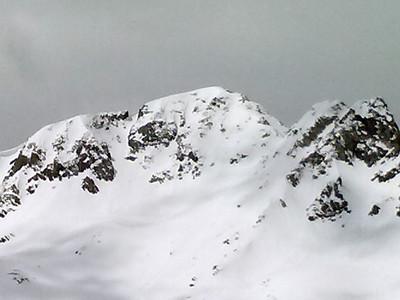 Fletcher Mountain's impressive and steep NE face.