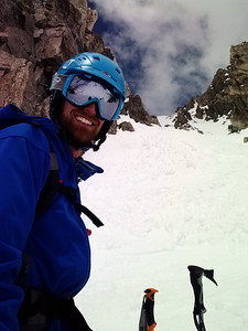 Me at the bottom of the couloir.