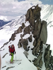 About halfway up our climb, we found this cool rock pinnacle.