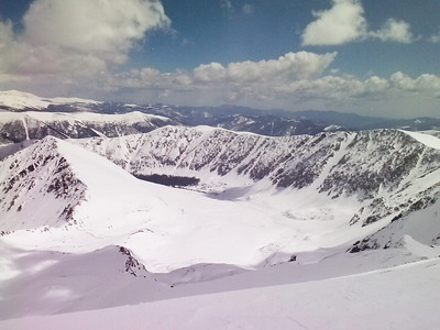Looking back down Stevens Gulch from high on Gray's north face.