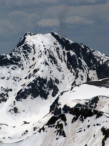 Grizzly Peak in the distance to the south.  Note the crown in the Grizzly Couloir.