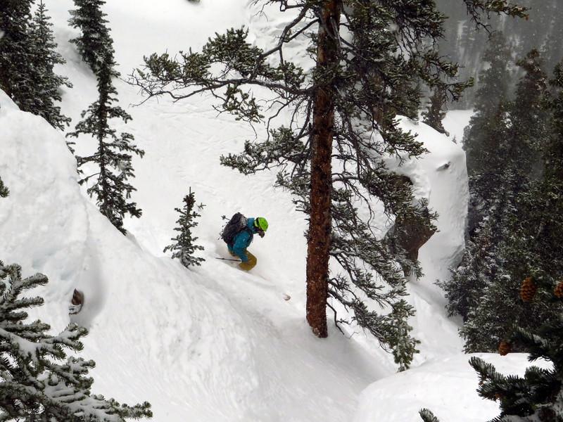 Ryan exiting the chute.