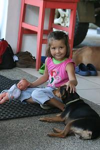 Child at Lookout Inn, Osa Peninsula, Costa Rica, 1-29-09