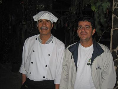 Gerardo & the Chef at Savegre Hotel de Montana, Costa Rica, 1-29-09