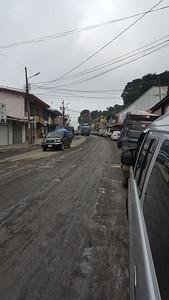 In Process of Repaving Main Street/Highway through Town