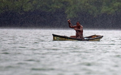 A Local Paddling in the Rain