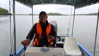 Melvin, our boat captain in the little bay & tried for the big bay!