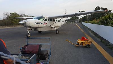 Sansa Plane Leaving Puerto Jimenez