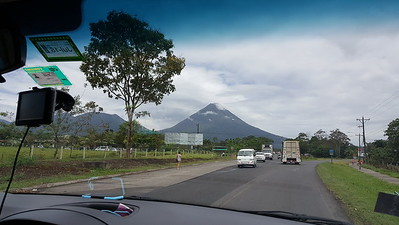 Approaching La Fortuna with Arenal in the Backgroun