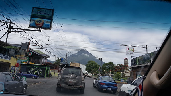 Driving through La Fortuna, Costa Rica