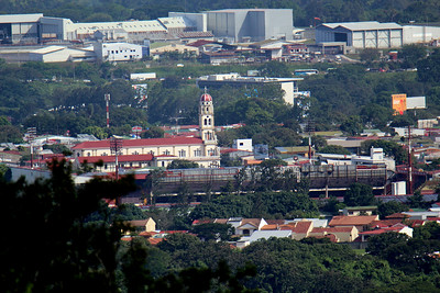 Church of the Agony, Alajuela - seen from restaurant with 600mm lens