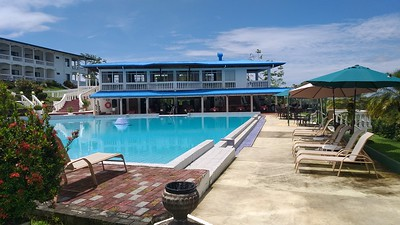 Poolside Restaurant with Meeting Room Above, Rooms to left