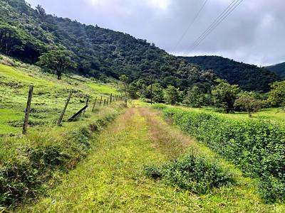 Hiking Through Farmland