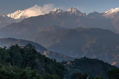 View of Kangchenjunga Mountain Range
