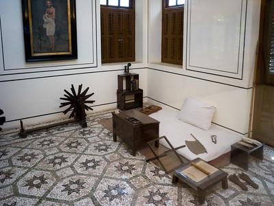 Gandhi's room at the Mani Bhavan
