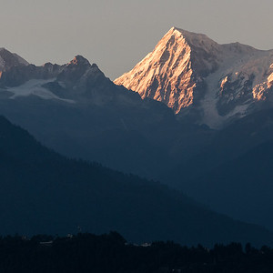 View of Kangchenjunga Mountain Range
