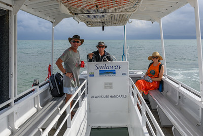 Boating to our dive and snorkel sites