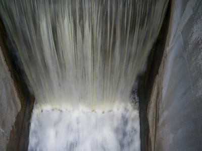 Spillway at Minnedosa dam