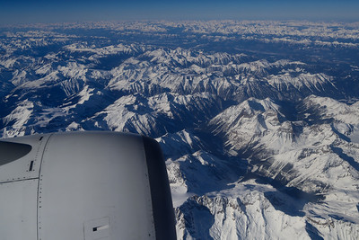 Flying over the Rockies