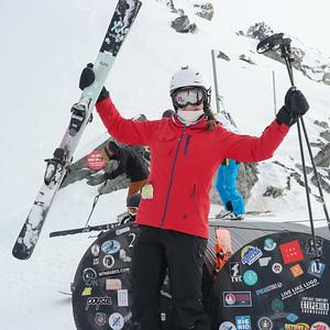 Skiing Spanky's Ladder