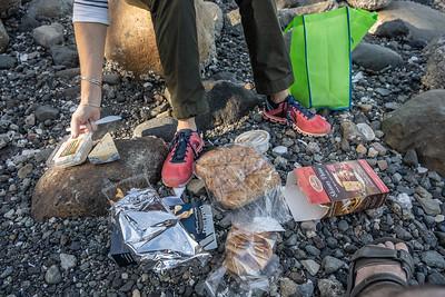 Picnic on beach - Union Bay