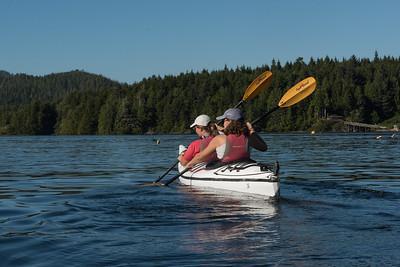 Kayaking in Clayoquot Sound, Tofino