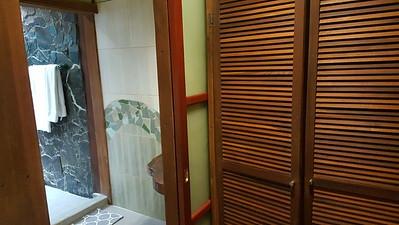 Closet by front door & bathroom door