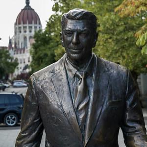 Ronald Reagan monument in Freedom Square