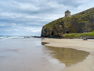 Mussenden Temple - view from Downhill beach