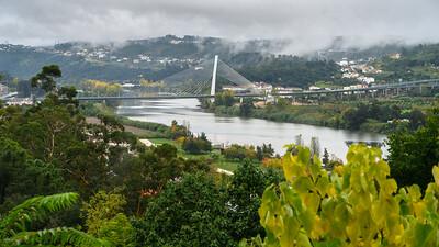 String bridge on Rio-Mondego Coimbra.