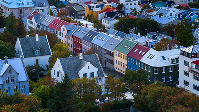 View from the tower in the Hallgrímskirkja Church