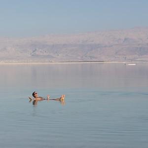 """""""Swimming"""" in the Dead Sea"""