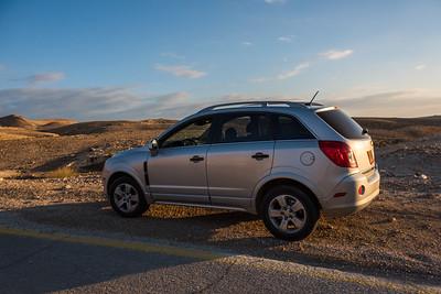 our rental car in Israel