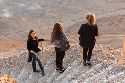 Climbing Masada at Sunrise