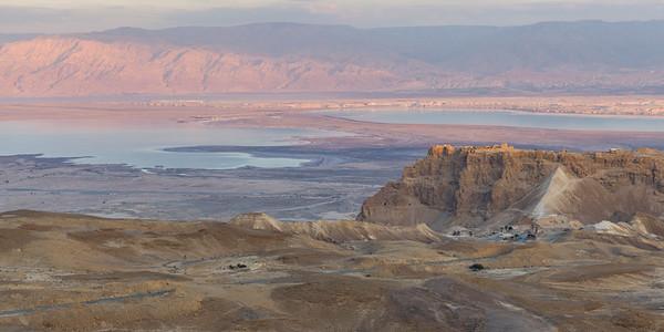 Masada at Sunset