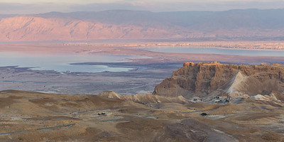 Masada at Sunset