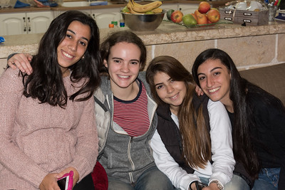 Hannah with her Israeli Friends