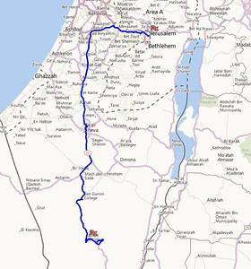 Mitspe Ramon to Jerusalem