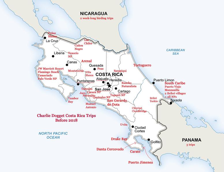 Charlie Doggett Costa Rica Trips BEFORE 2018