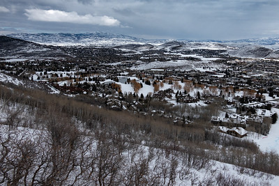 Park City Town views from above