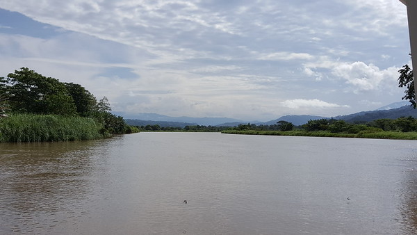 Scenic Tarcoles River near Mouth into Pacific Ocean