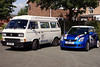VW T25 Camper ,& My Suzuki Swift...The model VW is based on our van in this photo..
