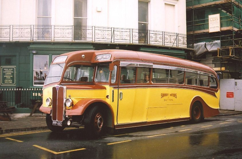PRESERVED AEC REGAL ,SURREY MOTORS..
