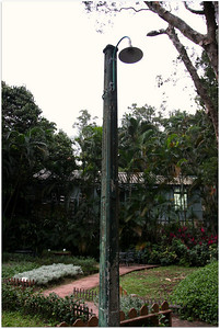 Historical street lamp in Taipei since Japan's occupation.